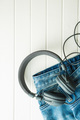 Headphones and blue jeans. - PhotoDune Item for Sale