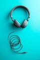 Gray vintage headphones. - PhotoDune Item for Sale