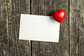 Blank greeting card and heart. - PhotoDune Item for Sale