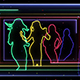 Dancing Girl Neon Silhouette - VideoHive Item for Sale