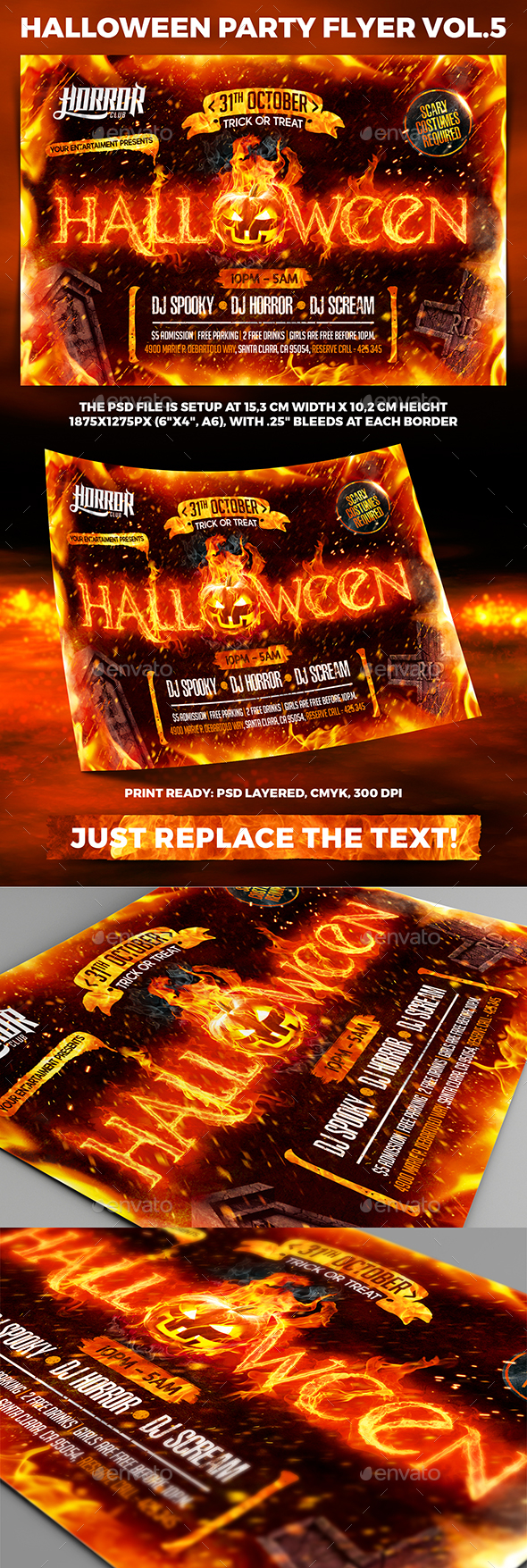 Halloween Night Party Flyer vol.5 - Holidays Events