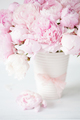 beautiful pink peony flowers bouquet in vase - PhotoDune Item for Sale