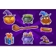 Funny Cartoon Halloween Sticker Icons