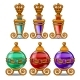 Royal Perfume Bottles with Gold Ornament and Crown
