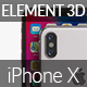 iPhone X - Element 3D - 3DOcean Item for Sale