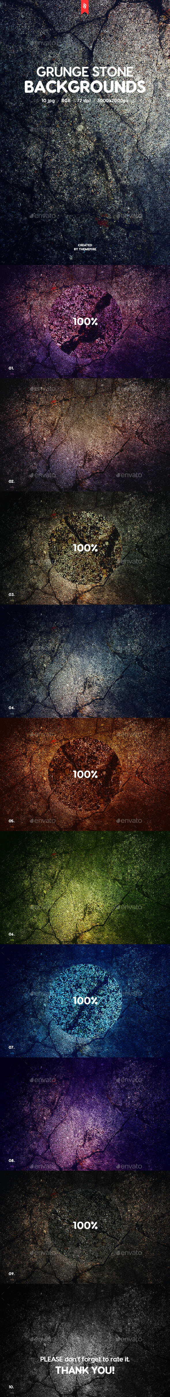 Grunge Stone Backgrounds - Urban Backgrounds