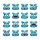 Blue Alien with Different Faces - GraphicRiver Item for Sale