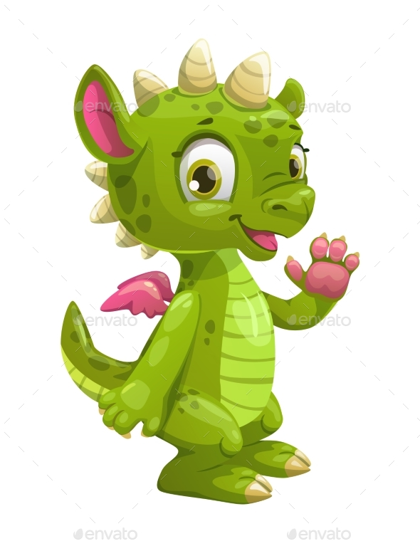 GraphicRiver Cartoon Green Dragon 20680736