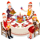 Christmas Eve Family Dinner Party - GraphicRiver Item for Sale