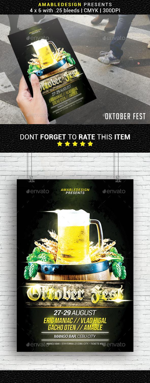 GraphicRiver Oktober Fest Flyer 20680764