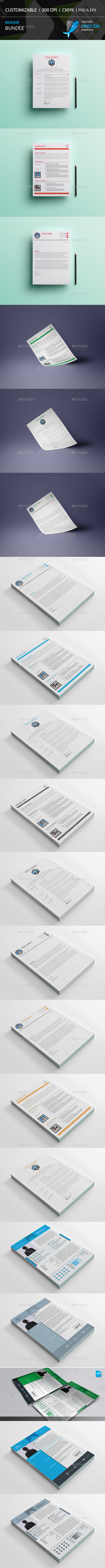GraphicRiver Resume Bundle 20680798