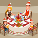 Christmas Table Decoration Vector Illustration - GraphicRiver Item for Sale