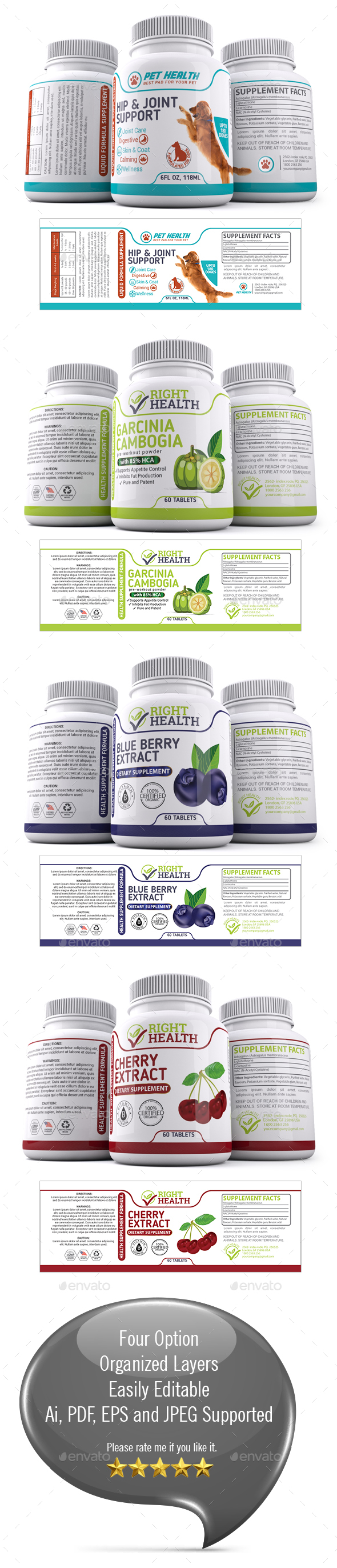 Supplement facts label psd for Supplement facts template