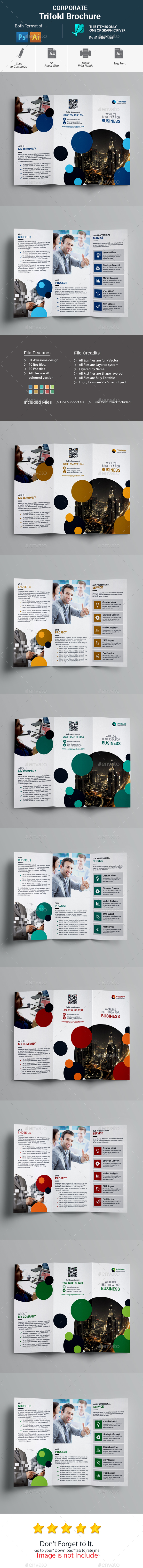 GraphicRiver Corporate Trifold Brochure 20680809