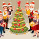 Family Christmas Tree and Children - GraphicRiver Item for Sale