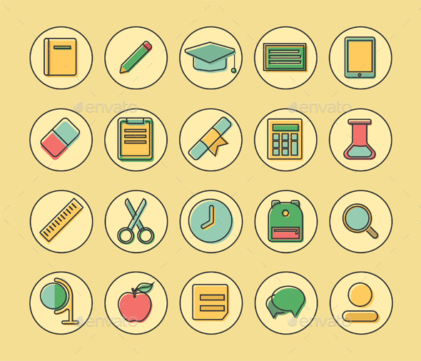GraphicRiver Flat Icons 20680974