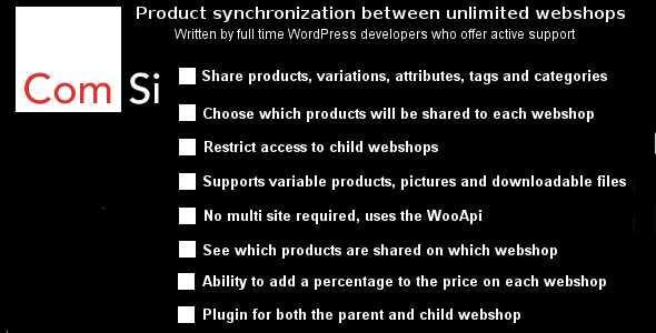 CodeCanyon WooCommerce product synchronization between unlimited webshops 20599692
