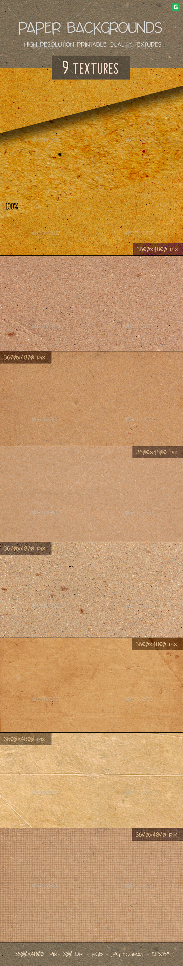 GraphicRiver Paper Texture Pack 9 20681052