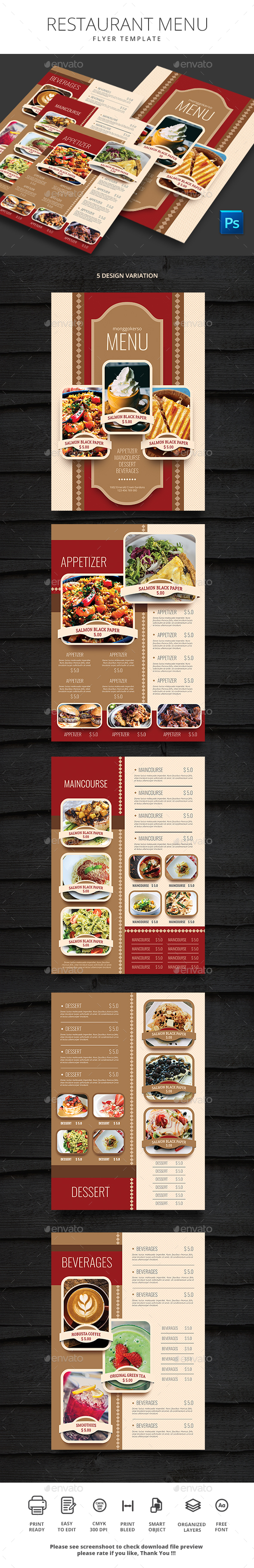 GraphicRiver Restaurant Menu 20681067