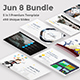 5 in 1 Bundle - Jun 8 Keynote Premium Template - GraphicRiver Item for Sale