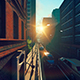 Urban Sleep Street Sunset Sun - VideoHive Item for Sale