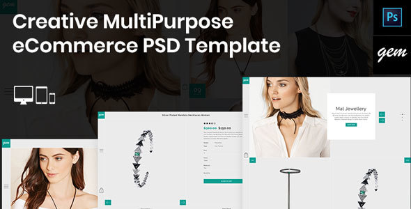 Gem – Creative MultiPurpose eCommerce PSD Template - Fashion Retail