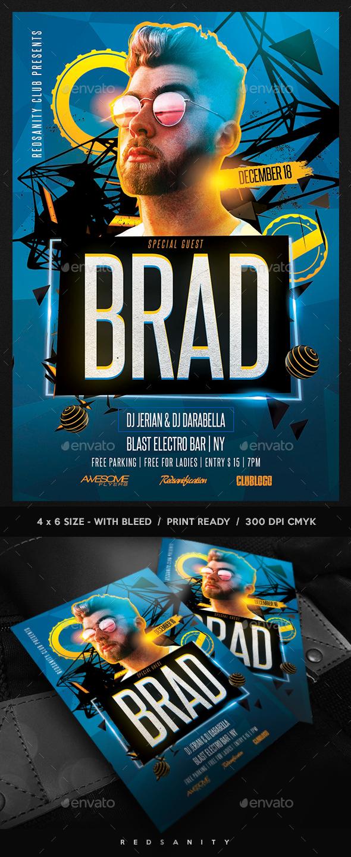 GraphicRiver Guest DJ Artist Flyer 20681145