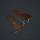 Old bench and table pbr - 3DOcean Item for Sale