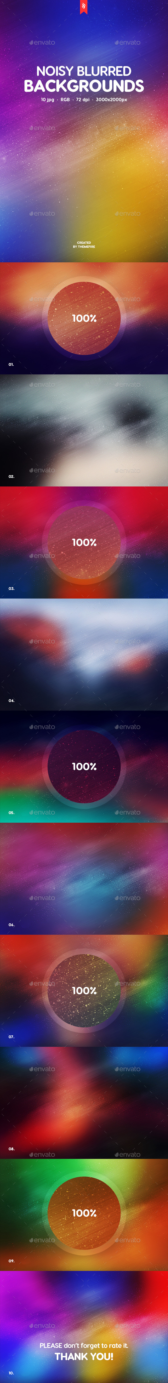 Noisy Blurred Backgrounds - Abstract Backgrounds