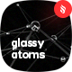 Abstract Glassy Atoms Backgrounds