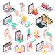 Isometric E-commerce Shopping Set