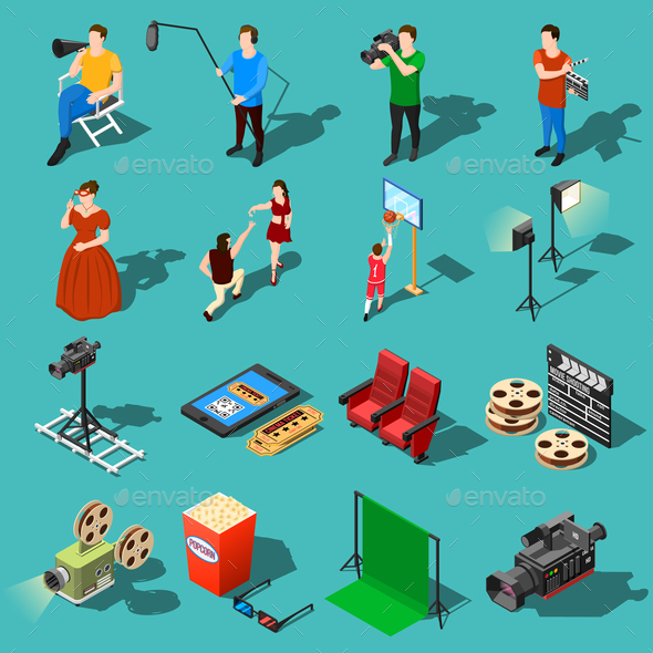 GraphicRiver Movie Production Icon Set 20681454