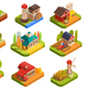 Farm Isometric Set