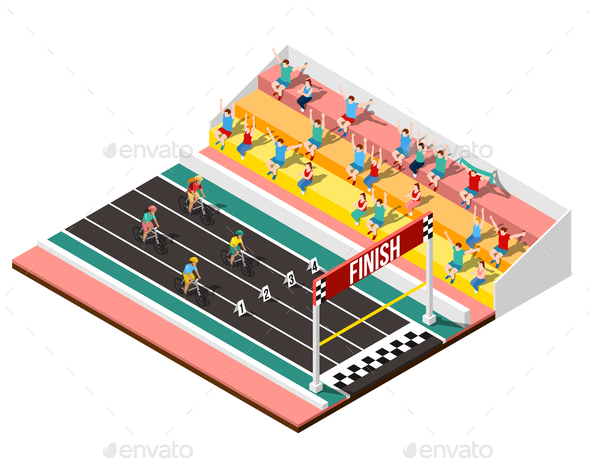 GraphicRiver Cycling Isometric Design Concept 20681478