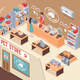 Isometric Pet Shop Composition