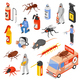 Pest Control 3d Isomeric Set