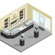 Jewelry Shop Isometric Interior