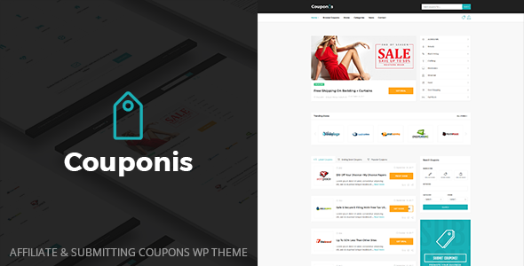 Couponis - Affiliate & Submitting Coupons WordPress Theme - Directory & Listings Corporate