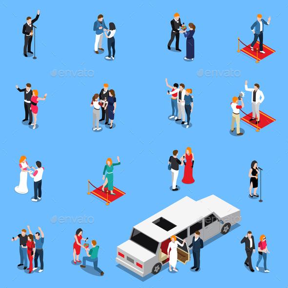 GraphicRiver Celebrity Isometric Set 20681525