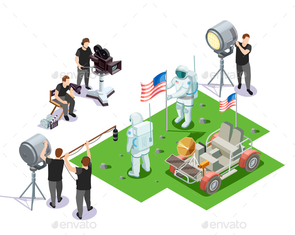 GraphicRiver Operators Isometric Composition 20681569