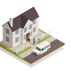 Postal Delivery Service Isometric Composition