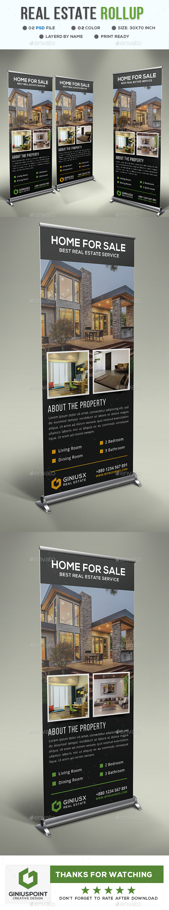 GraphicRiver Real Estate Roll-Up 20665433