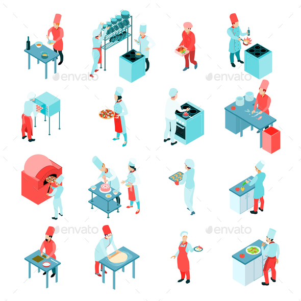 GraphicRiver Isometric Cooking Set 20681753