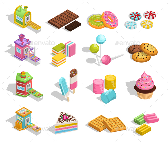 Sweet Goods Pastry Collection - Food Objects