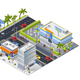 Isometric Urban Landscape with Street Restaurant - GraphicRiver Item for Sale