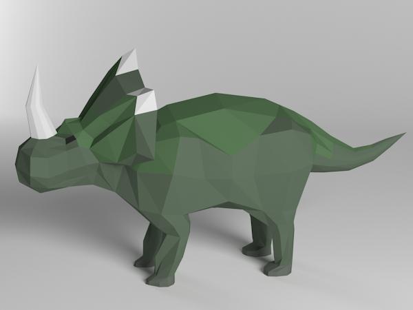 Low Poly Dinosaur Styracosaurus By Alim519