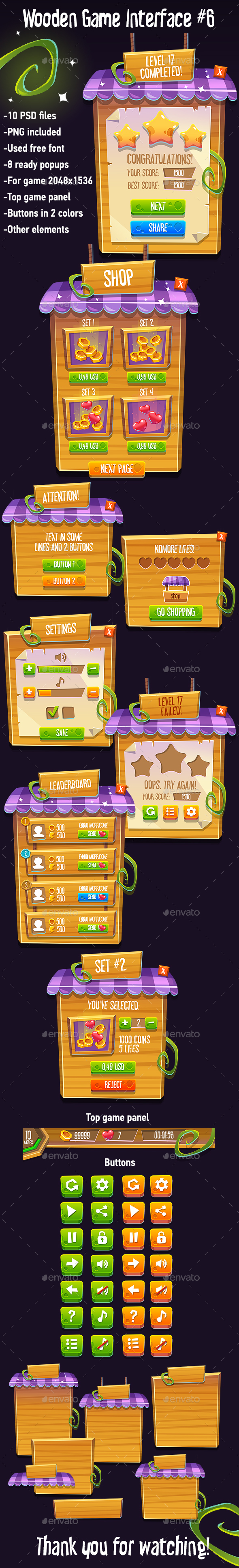 GraphicRiver Wooden Game Interface #6 20681921