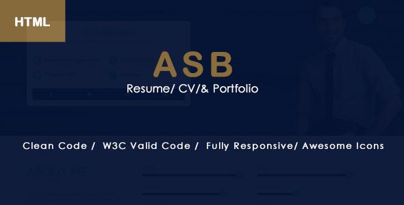 Download ASB CV / Resume / Portfolio