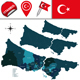 Map of Istanbul with Districts - GraphicRiver Item for Sale