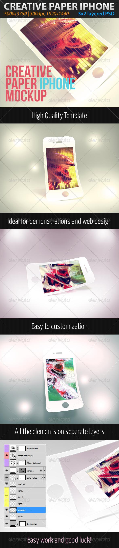 Creative Paper Phone Mockup - Mobile Displays